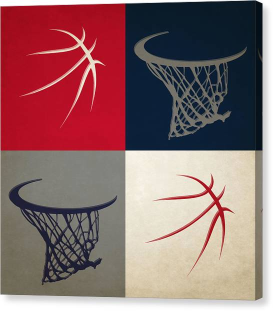 Washington Wizards Canvas Print - Wizards Ball And Hoop by Joe Hamilton