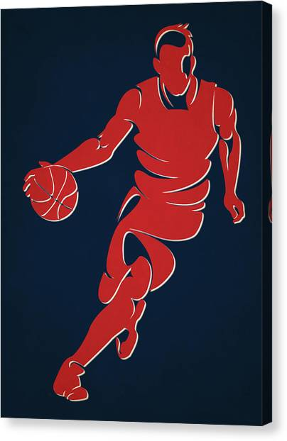 Washington Wizards Canvas Print - Wizards Basketball Player1 by Joe Hamilton