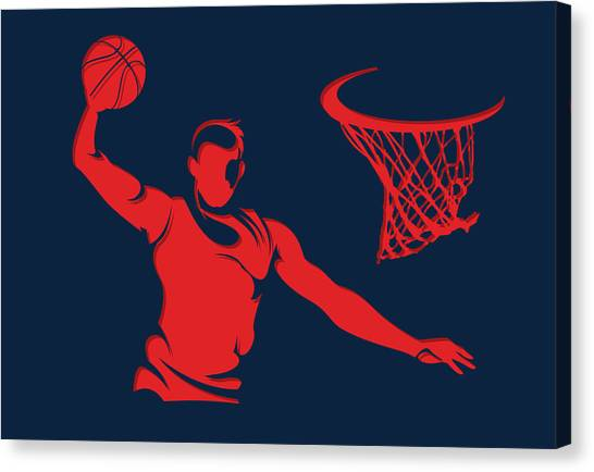 Washington Wizards Canvas Print - Wizards Basketball Player2 by Joe Hamilton