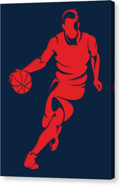 Washington Wizards Canvas Print - Wizards Basketball Player3 by Joe Hamilton