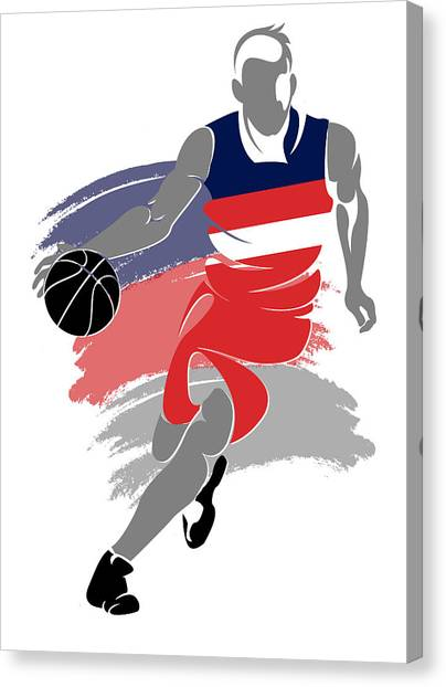 Washington Wizards Canvas Print - Wizards Basketball Player5 by Joe Hamilton