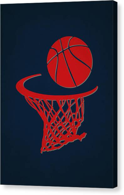 Washington Wizards Canvas Print - Wizards Team Hoop2 by Joe Hamilton