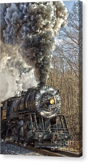 Wmsr Engine 734 Canvas Print