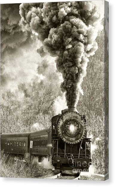 Wmsr Steam Engine 734 Canvas Print