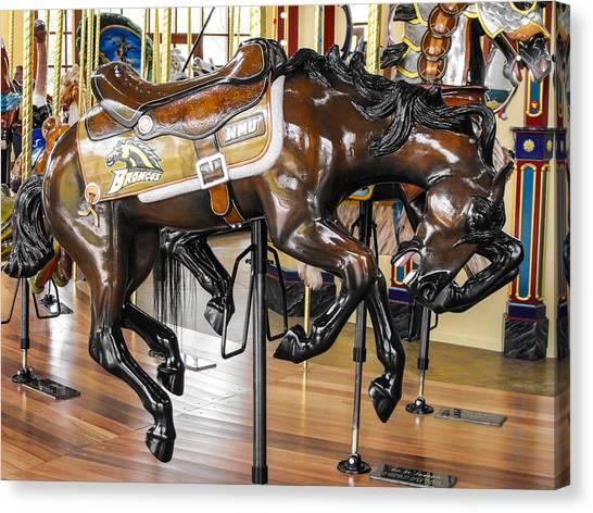 Western Michigan University Wmu Canvas Print - Wmu Bronco Horse by Rick Jackson