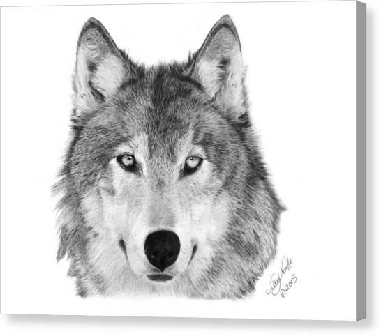 Wolf - 004 Canvas Print