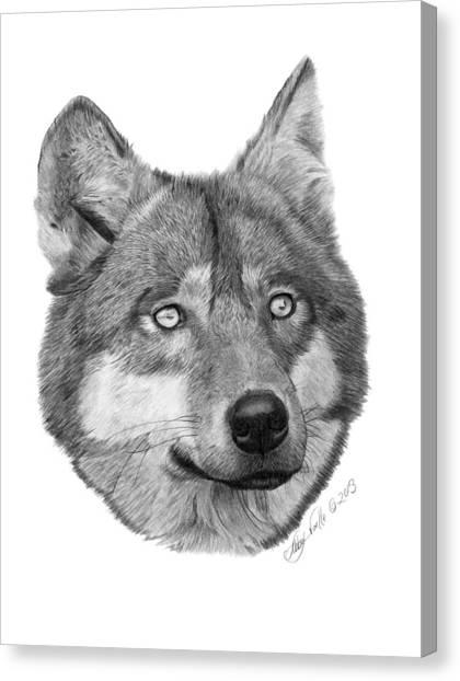 Wolf - 017 Canvas Print
