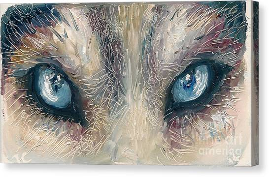 Wolf Canvas Print by Donna Chaasadah