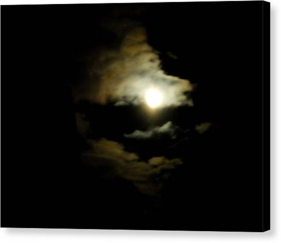 Wolf Eating The Moon I Canvas Print