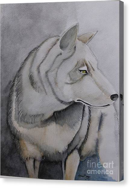 Wolf Canvas Print by Grant Mansel-James