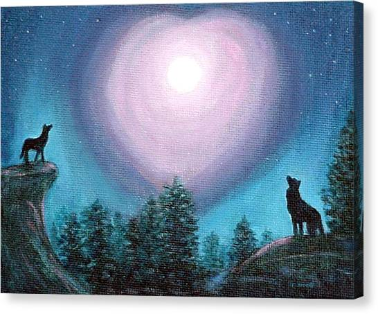 Wolf Heart Song Canvas Print