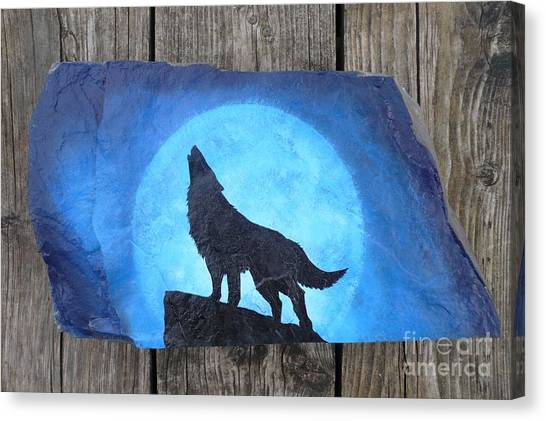 Wolf Howl2 Canvas Print