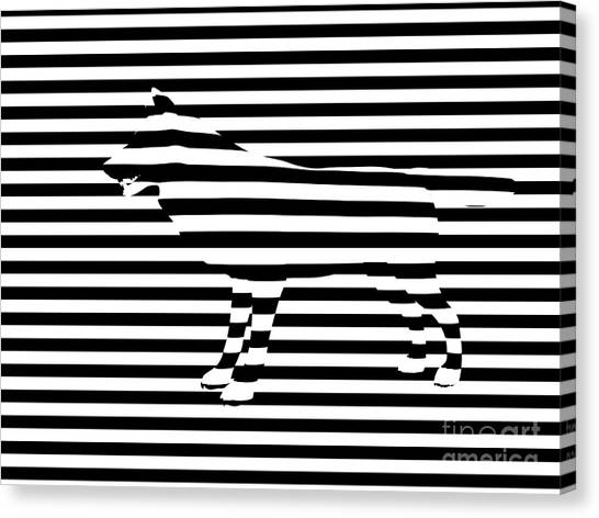 Abstract Digital Canvas Print - Wolf Optical Illusion by Pixel  Chimp
