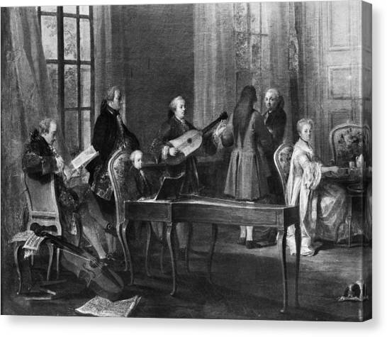 Harpsichords Canvas Print - Wolfgang Amadeus Mozart (1756-1791) by Granger