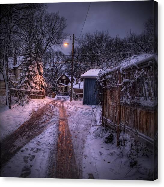 Manitoba Canvas Print - Wolseley Winter by Bryan Scott