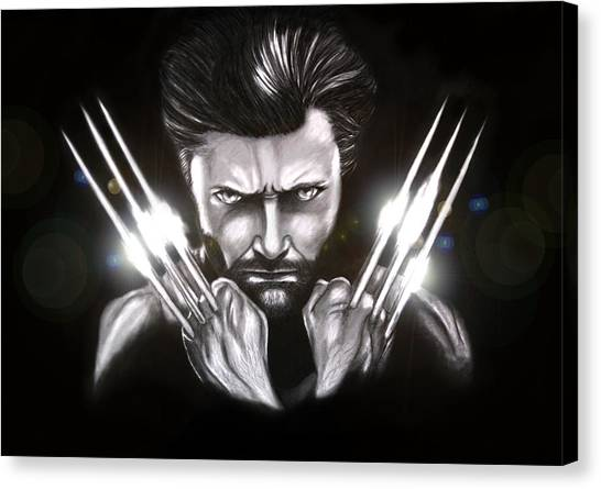 Wolverine Canvas Print by Kim Lagerhem