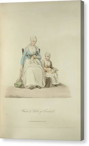 Friesland Canvas Print - Woman And Child Of Friesland by British Library