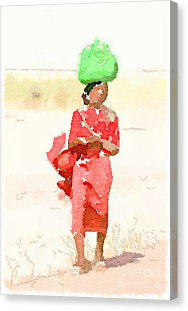 Woman Bag Canvas Print