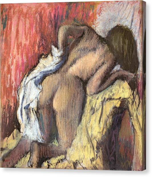 Edgar Degas Canvas Print - Woman Drying Herself by Edgar Degas