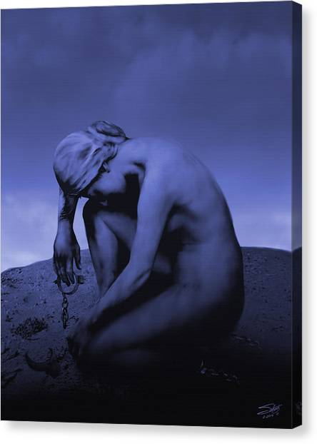 Oppression Canvas Print - Woman In Chains by IM Spadecaller