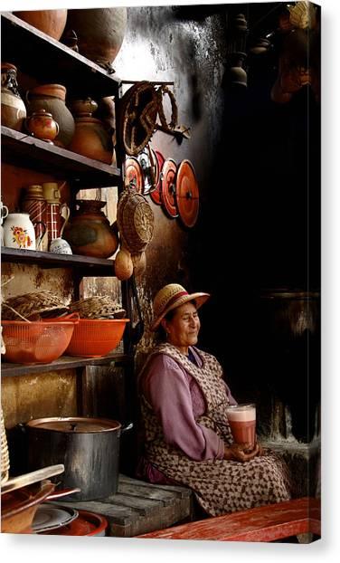 Woman In Chicheria Canvas Print
