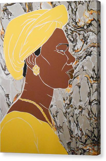 Woman In Yellow Canvas Print