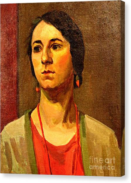 Woman Of 1929 Canvas Print