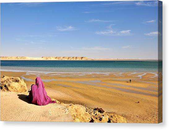 Woman Of The Desert Canvas Print by Manu G