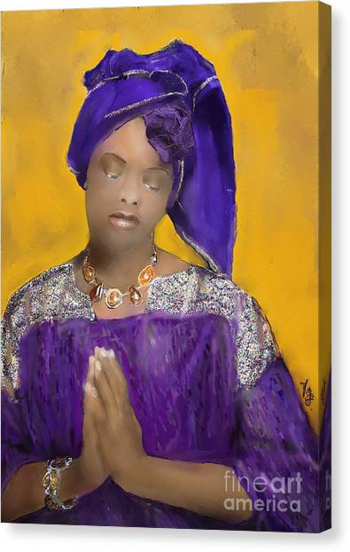 Woman Praying Canvas Print
