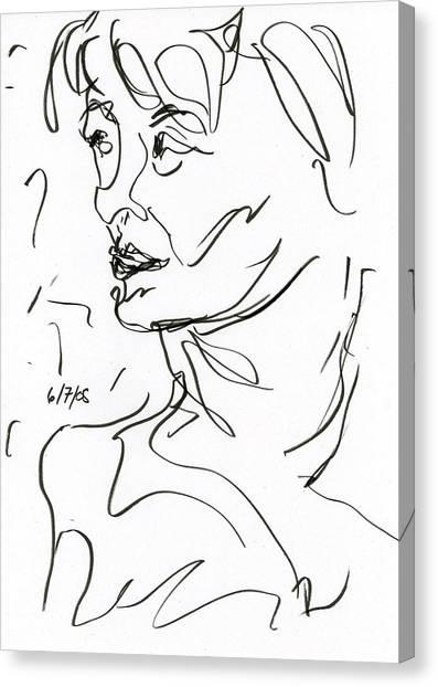 Woman Canvas Print by Rachel Scott