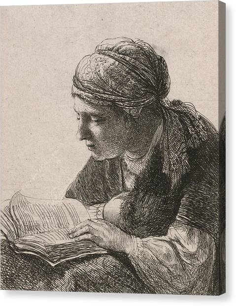 Rembrandt Canvas Print - Woman Reading by Rembrandt