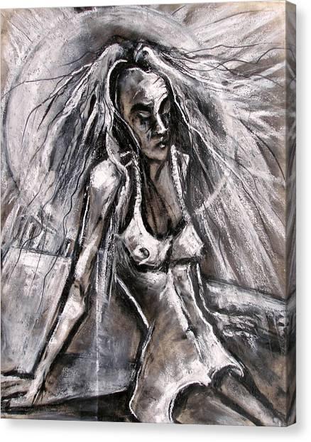 Woman Sunbather Canvas Print