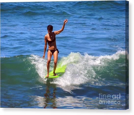 Woman Surfer Canvas Print by Alexandra Jordankova