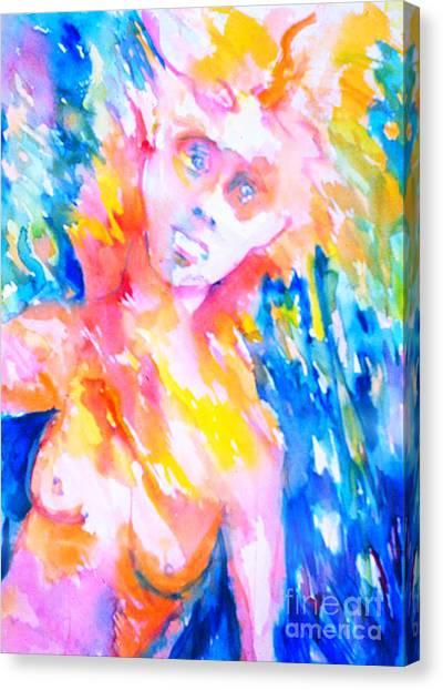 Woman Under Duress Canvas Print