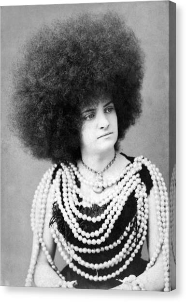 1880s Canvas Print - Woman Vaudeville Performer by Underwood Archives