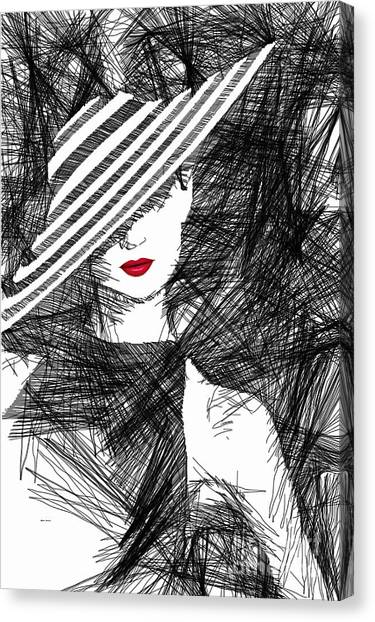 Woman With A Hat Canvas Print