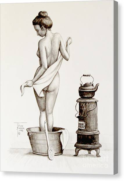 Woman With A Towel 1890s Canvas Print