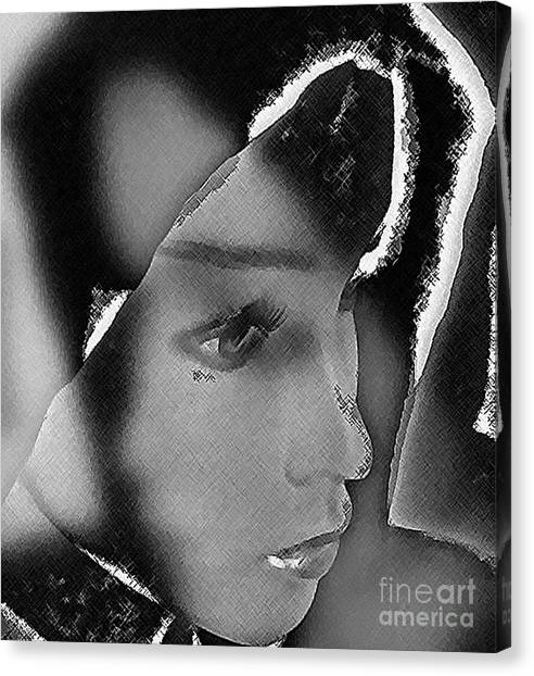 Woman With Broken Heart  Canvas Print