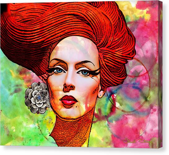 Woman With Earring Canvas Print