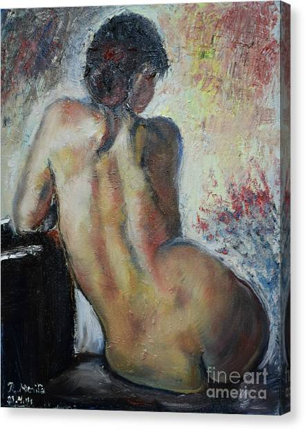 Woman's Back  Canvas Print