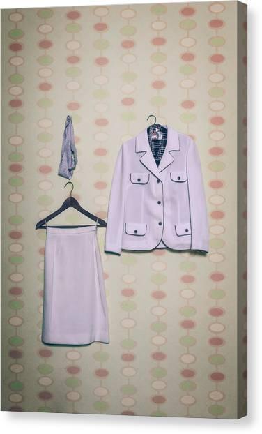 Coat Hanger Canvas Print - Woman's Clothes by Joana Kruse