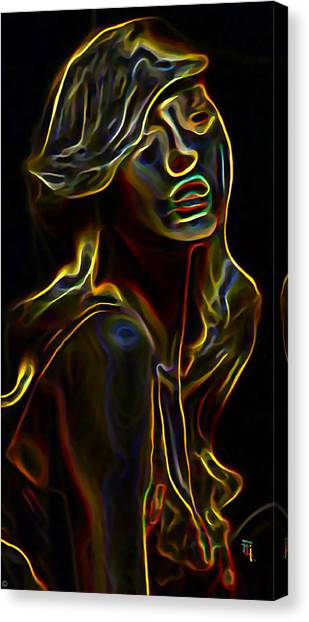 Profile Canvas Print - Womans Essence 23 by  Fli Art