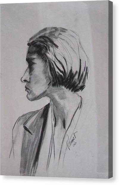 Woman's Profile Canvas Print