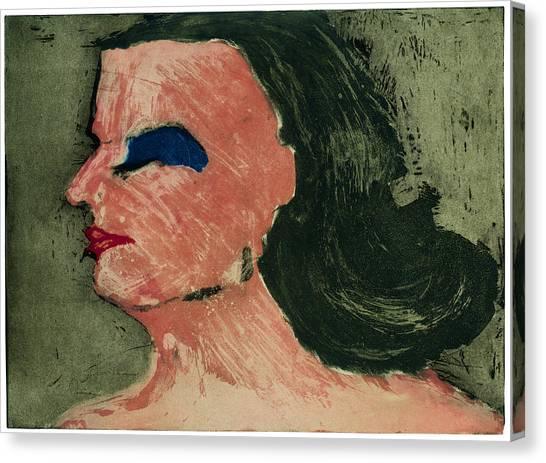Woman's Profile Canvas Print by Tim Southall