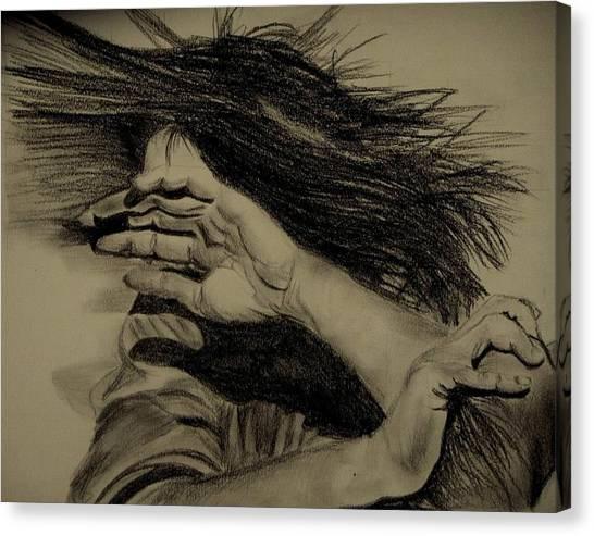 Women Abuse Canvas Print by Umme Kulsoom