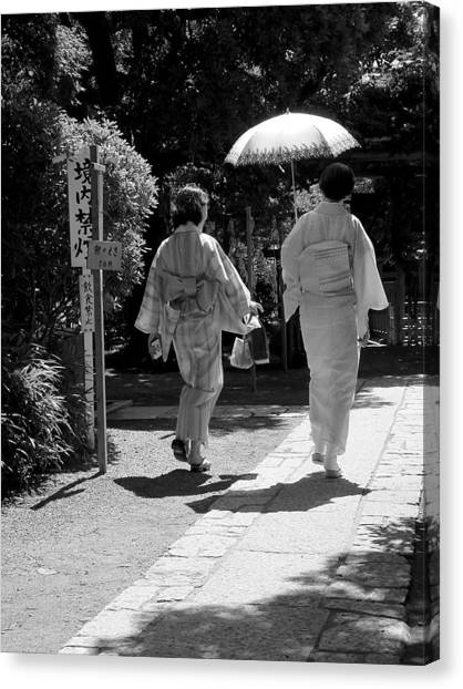 Women In Kimono Canvas Print