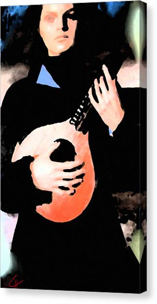 Women With Her Guitar Canvas Print