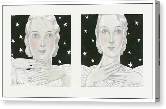Women With Stars Canvas Print