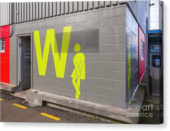 Womens Public Toilet Wellington Nz Canvas Print by Colin and Linda McKie