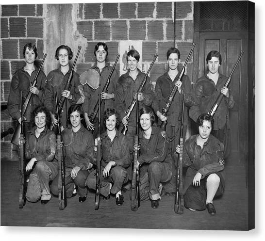 Atlantic 10 Canvas Print - Womens Rifle Team by Underwood Archives